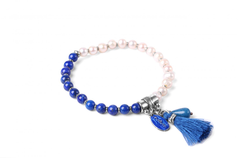 LES DUOS bracelet perle / lapis lazuli