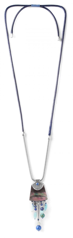 LES AJUSTABLES collier long nacre noire