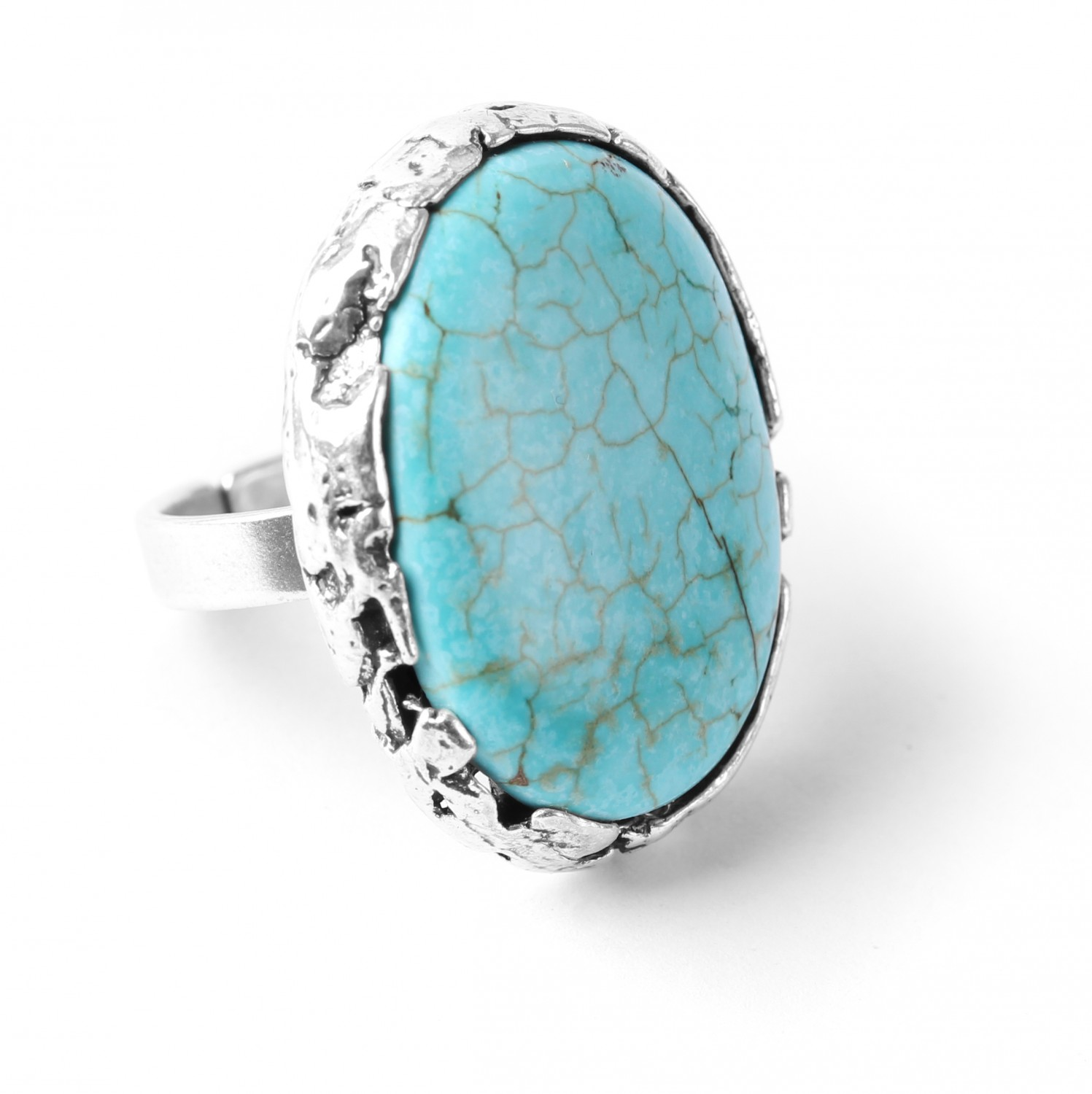 ANAY bague howlite turquoise