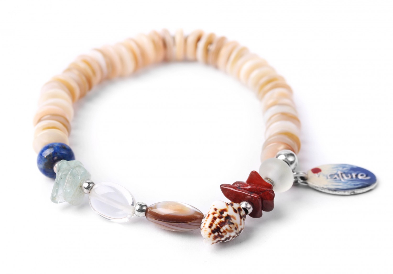 BAHIA bracelet extensible heishi