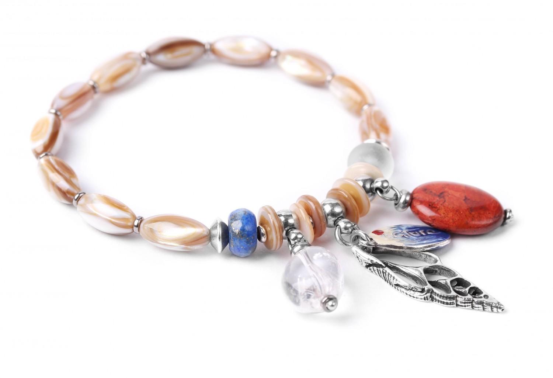 BAHIA bracelet extensible 3 pampilles