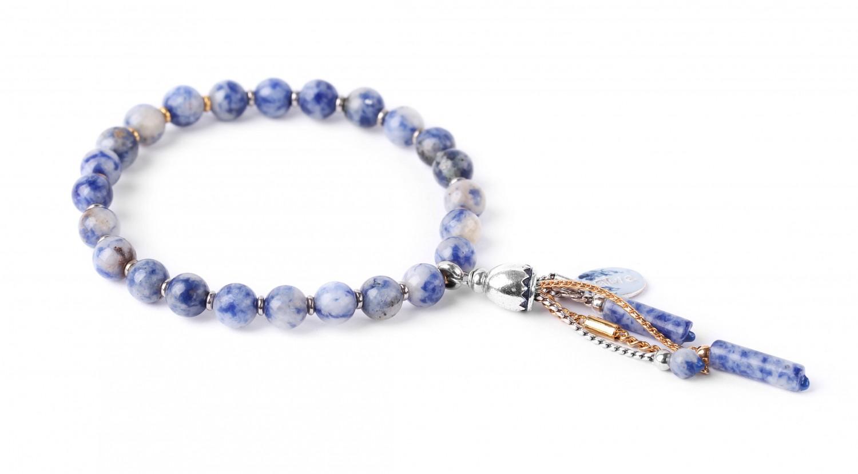 BABYLONE bracelet extensible à pampilles