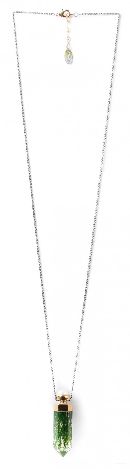PERLE D'EAU DOUCE collier long /vertical