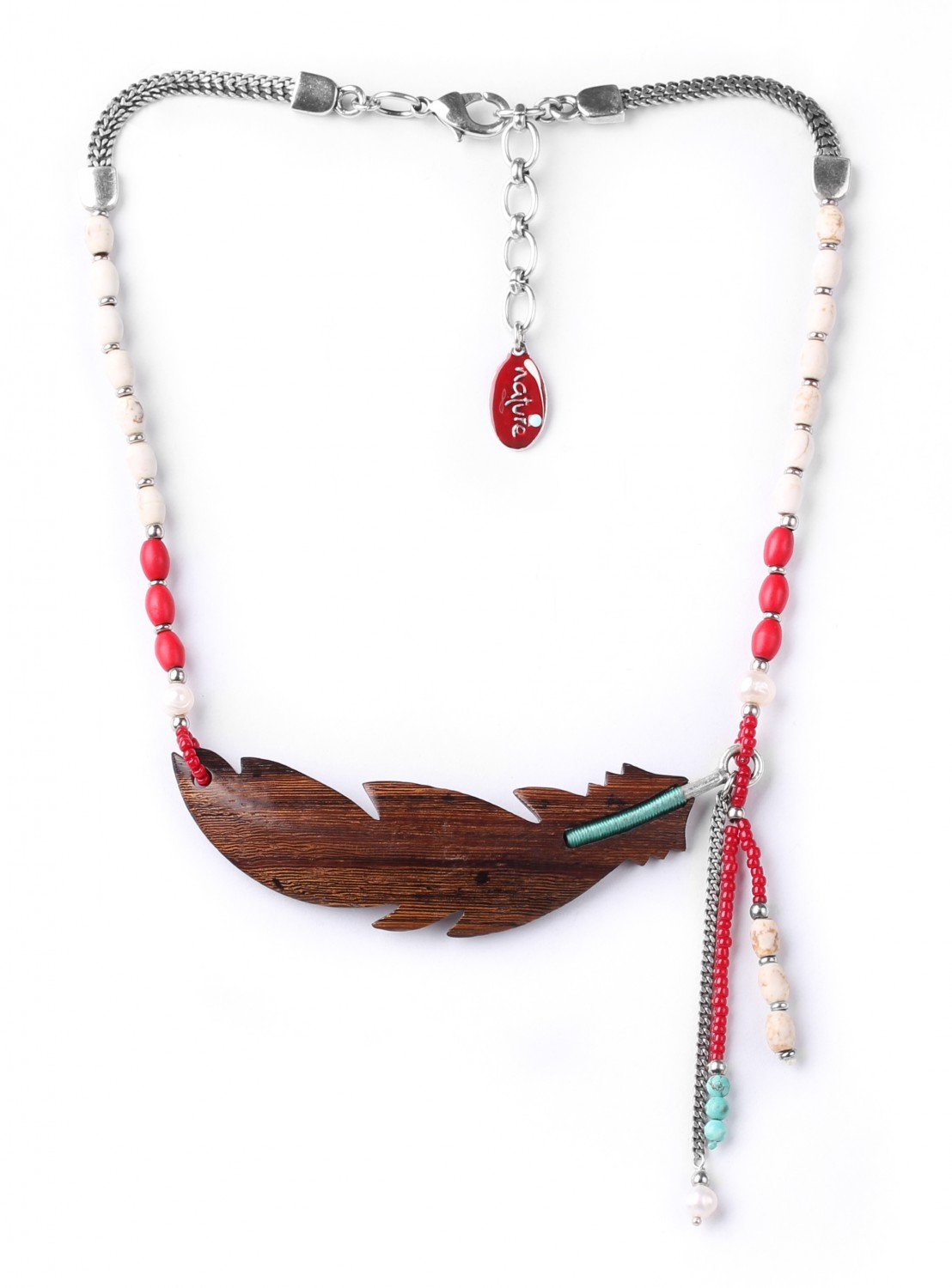 INDIANA collier grande plume
