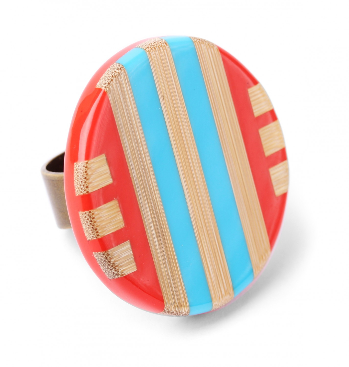 BAMBOO STRIPES grosse bague
