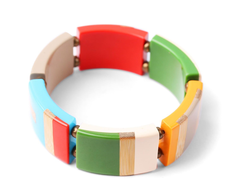 BAMBOO STRIPES bracelet extensible