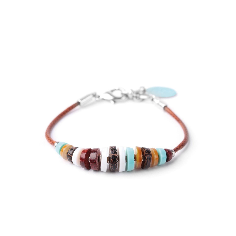 MANAKA  bracelet cordon et fermoir