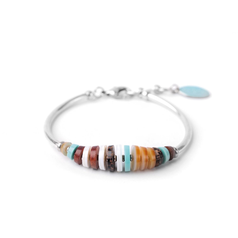 MANAKA  bracelet rigide avec métal