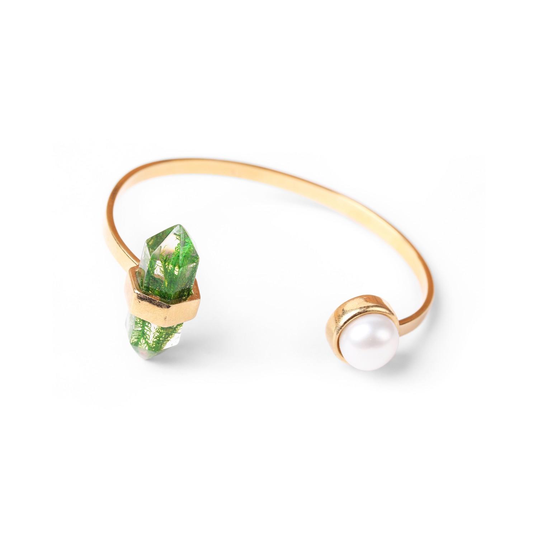 PERLE D'EAU DOUCE bracelet rigide deux éléments