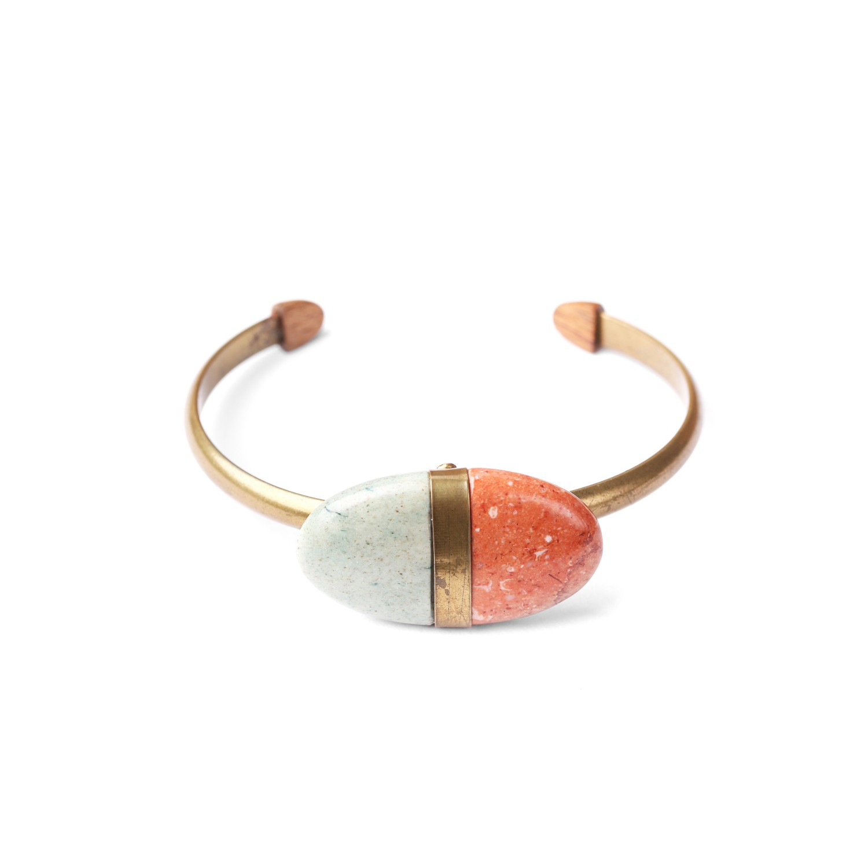 PEBBLES bracelet jonc avec galet
