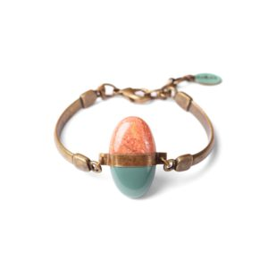 PEBBLES bracelet granit saumon