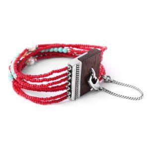 INDIANA bracelet cinq rangs