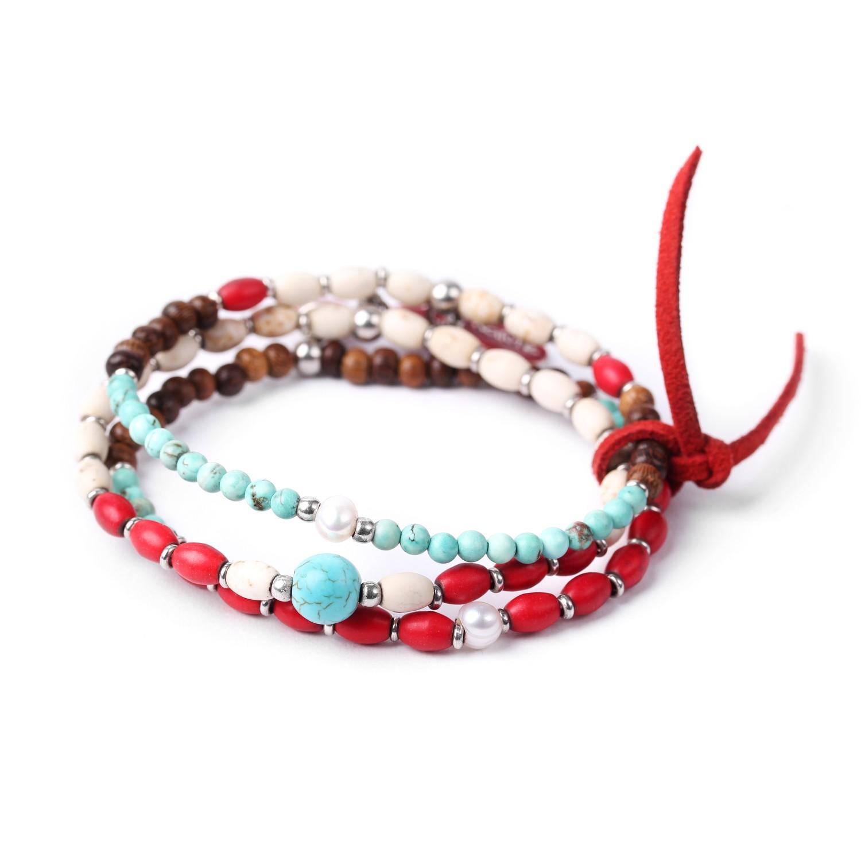 INDIANA bracelet par trois extensibles