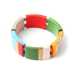 BAMBOO STRIPES bracelet coloré extensible