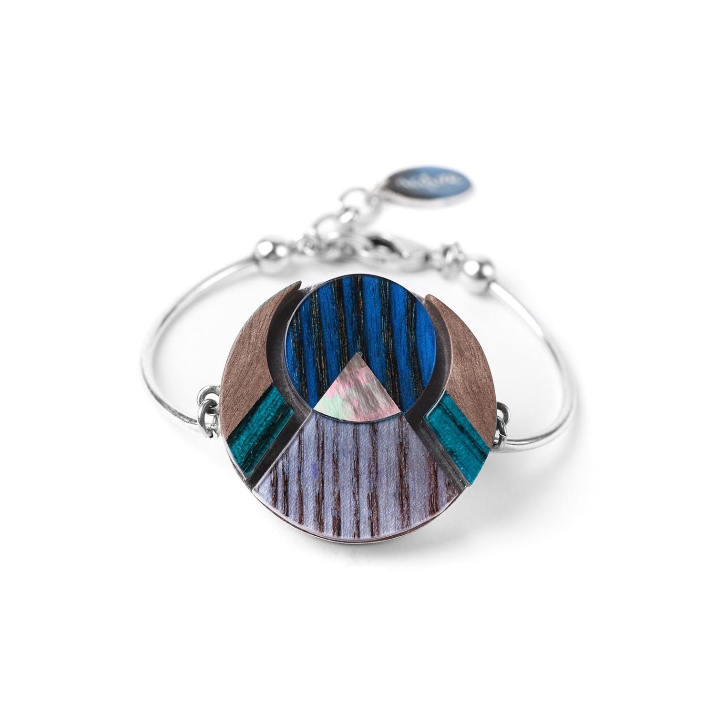 KHATAM SILVER  bracelet semi-rigide