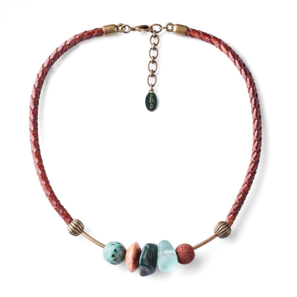 Jardin du desert beads on a bar necklace nature bijoux for Jardin necklace