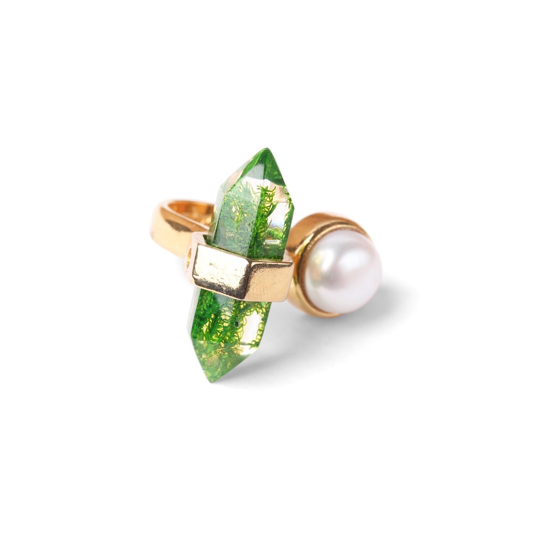 PERLE D'EAU DOUCE  bague avec perles de culture