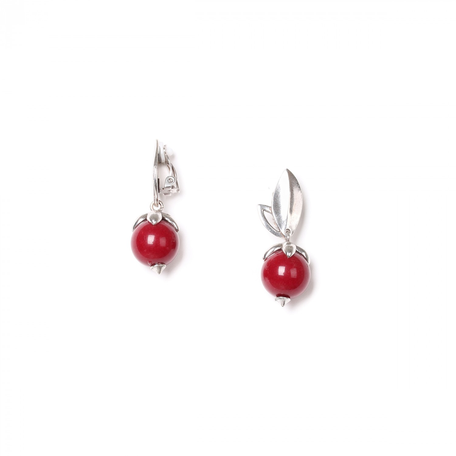 LES FRUITS cherry dyed stone clips