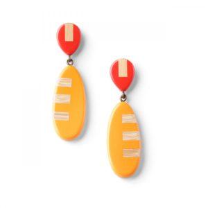 BAMBOO STRIPES *BO rouge et orange