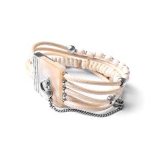 LES MULTIS bracelet howlite blanche