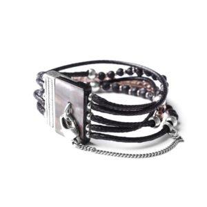 LES MULTIS bracelet lave & quartz