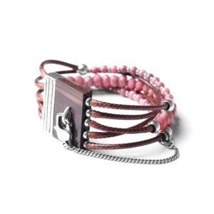 LES MULTIS bracelet rhodonite
