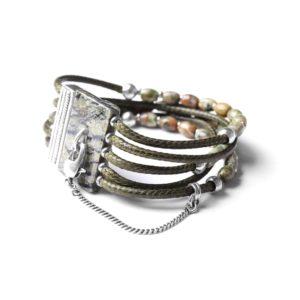 LES MULTIS bracelet jaspe mousse