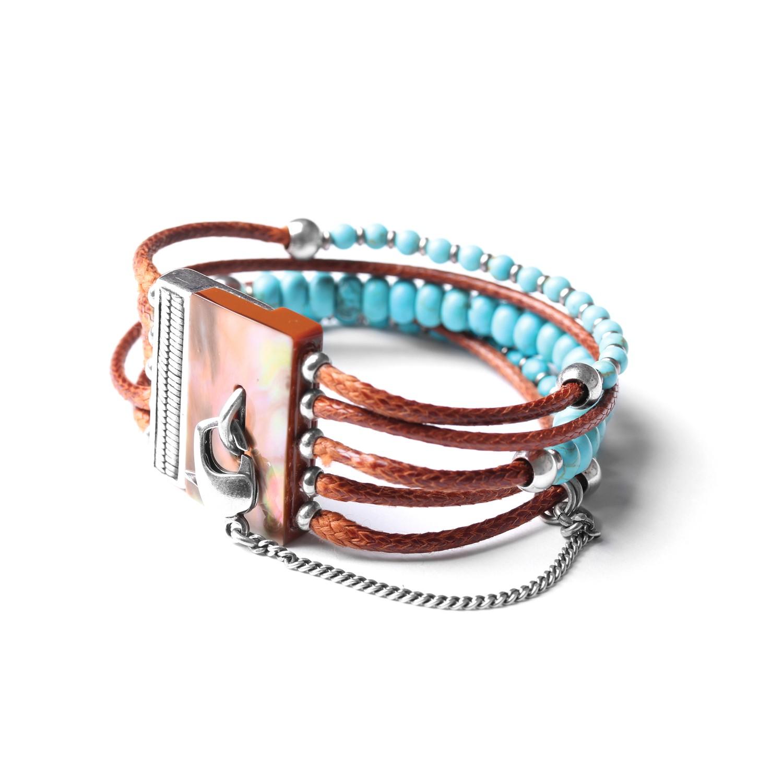 LES MULTIS bracelet howlite turquoise