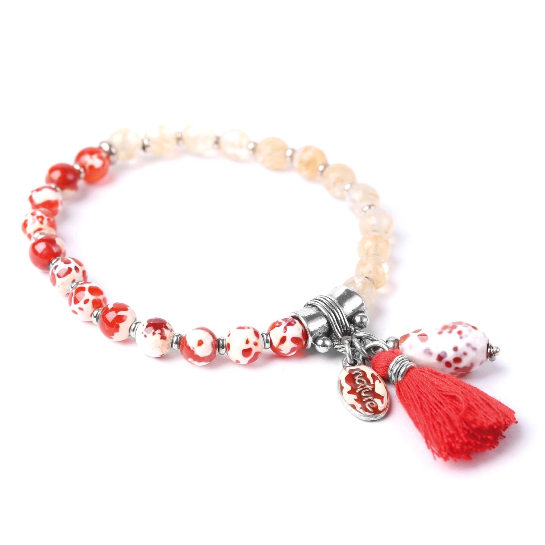LES DUOS strombus & agate bracelet