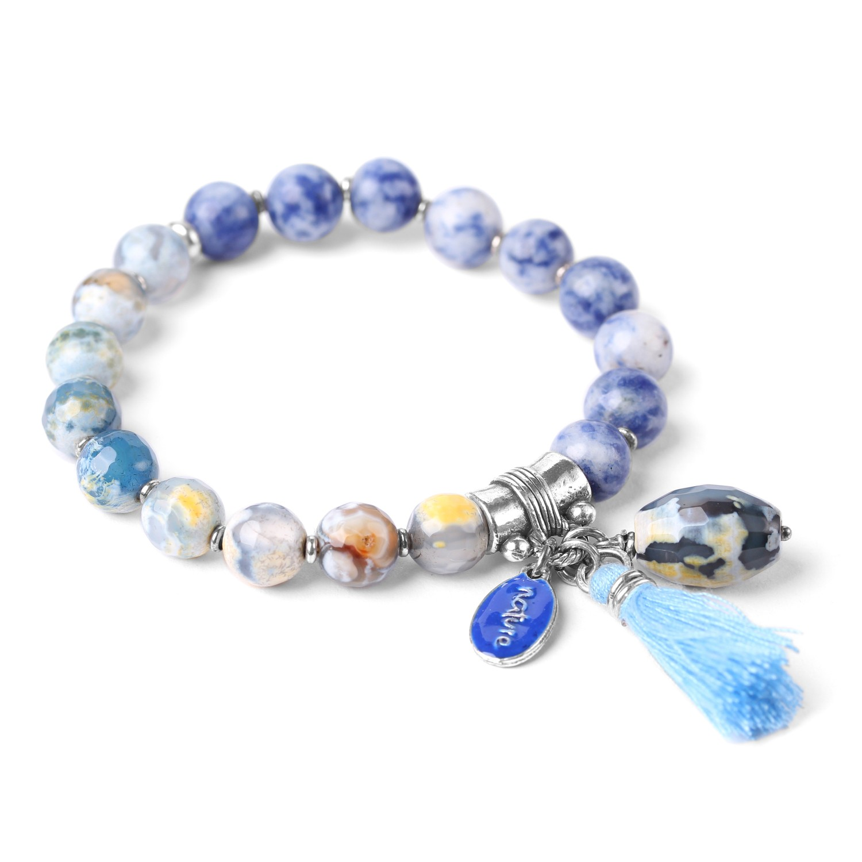 LES DUOS agate & sodalite bracelet