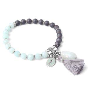 LES DUOS bracelet hematite & amazonite