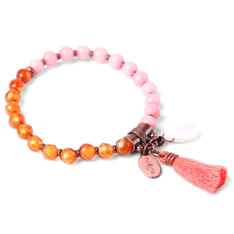 LES DUOS bracelet agate & jade teinté