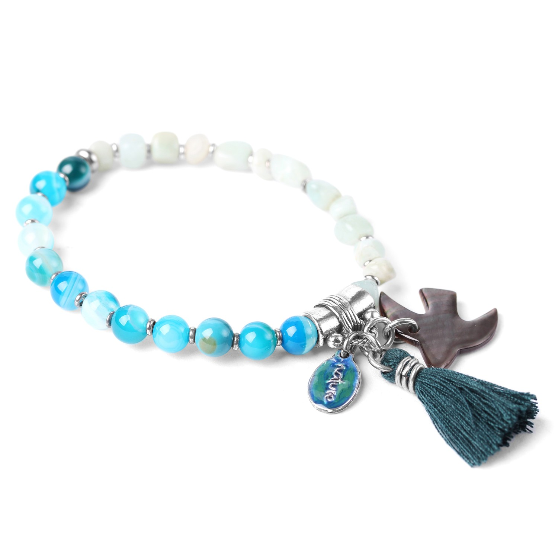 LES DUOS bracelet amazonite & agate