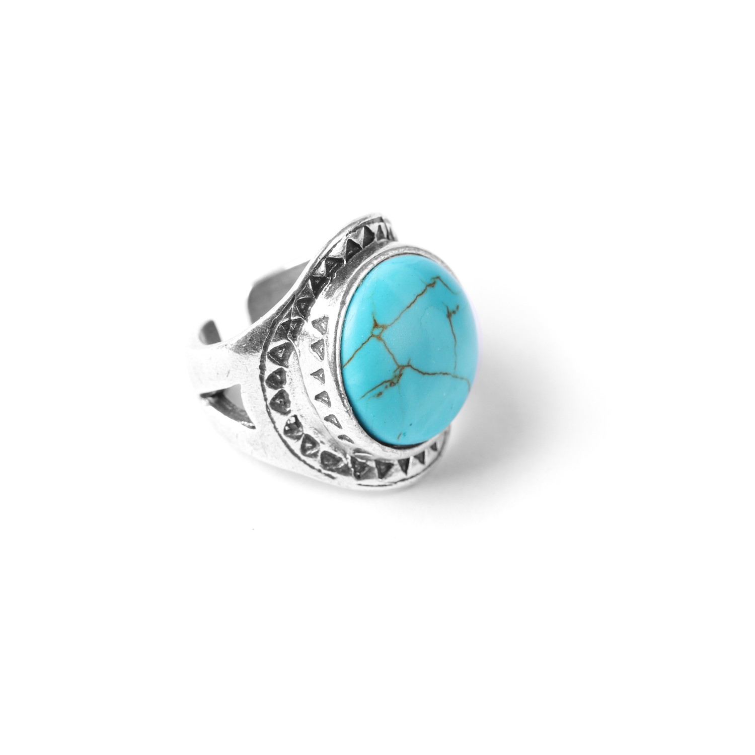 LES CHEVALIERES turquoise howlite ring