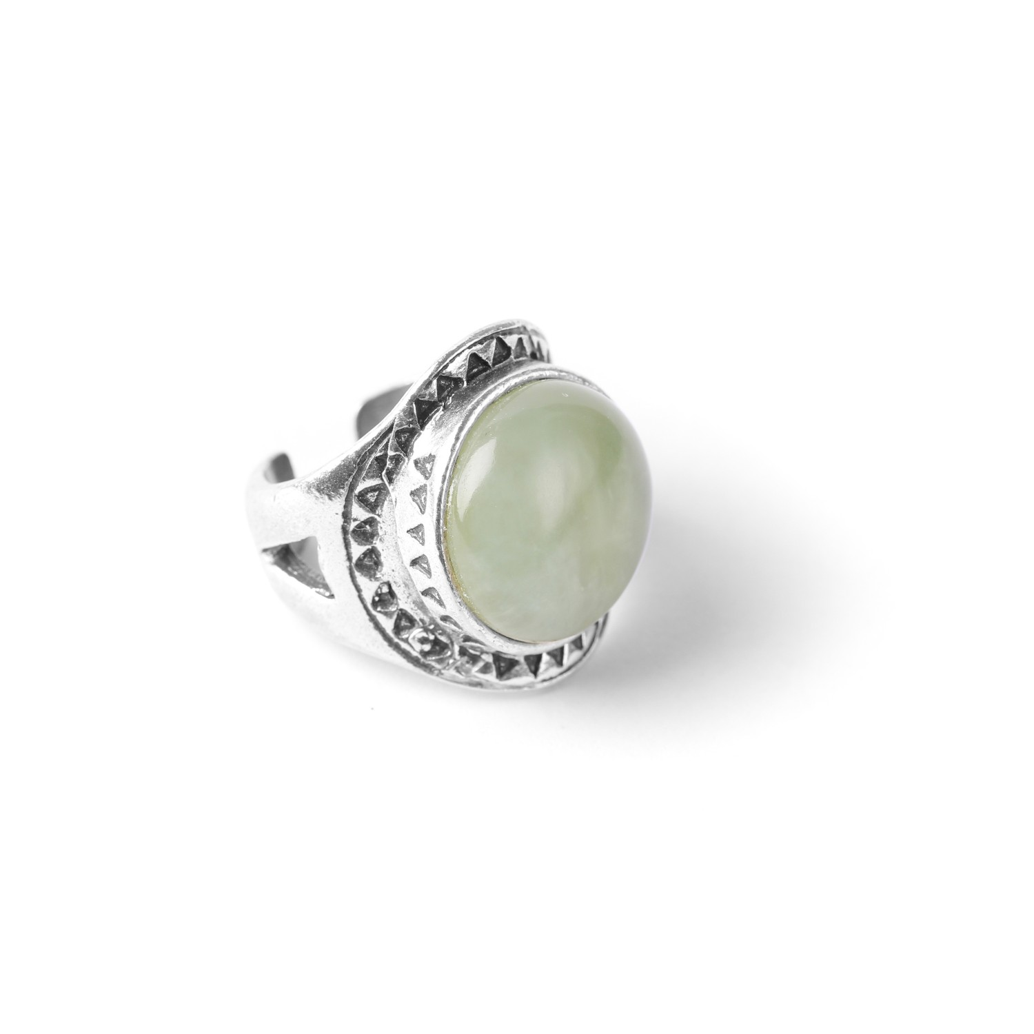 LES CHEVALIERES green stone ring