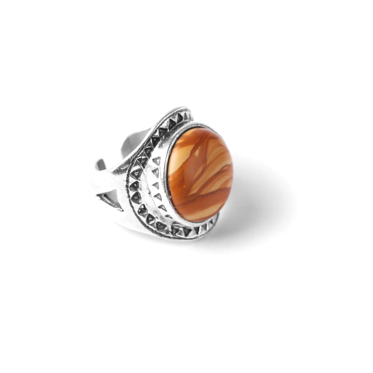 LES CHEVALIERES picture jasper ring