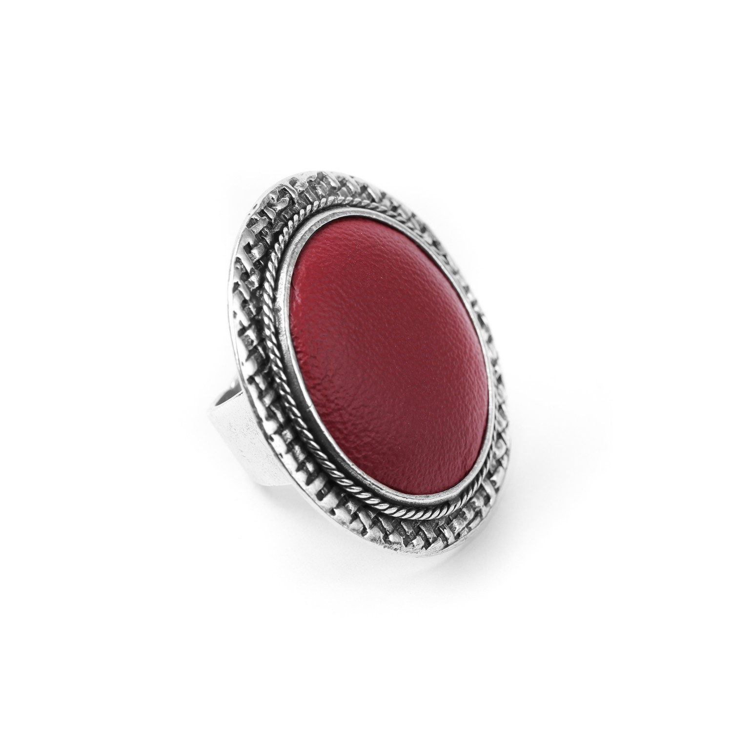 LEATHER bague Bordeaux