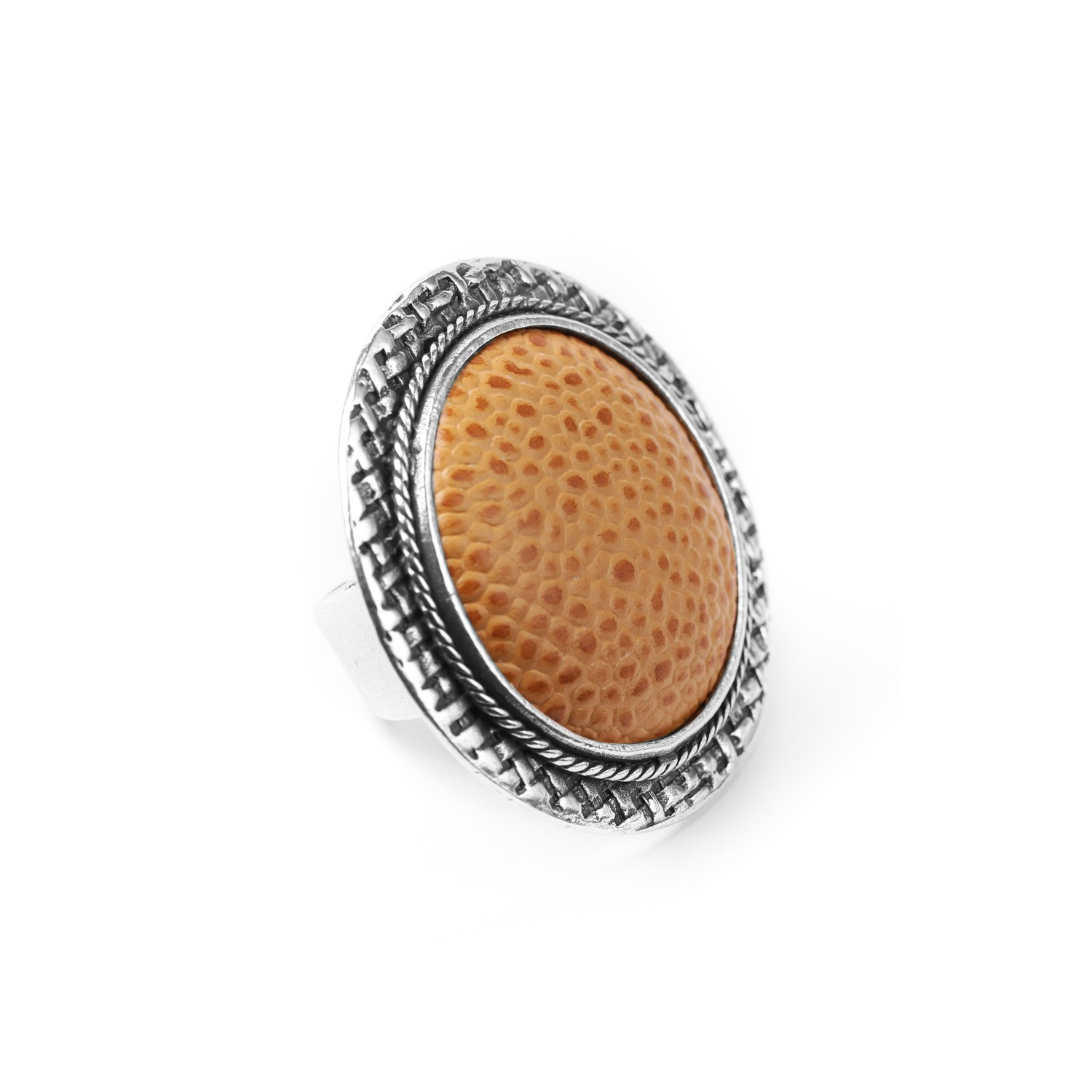 LEATHER bague camel
