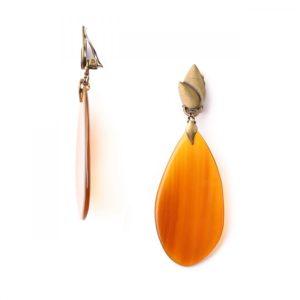 LAND ART *BO clips corne orange