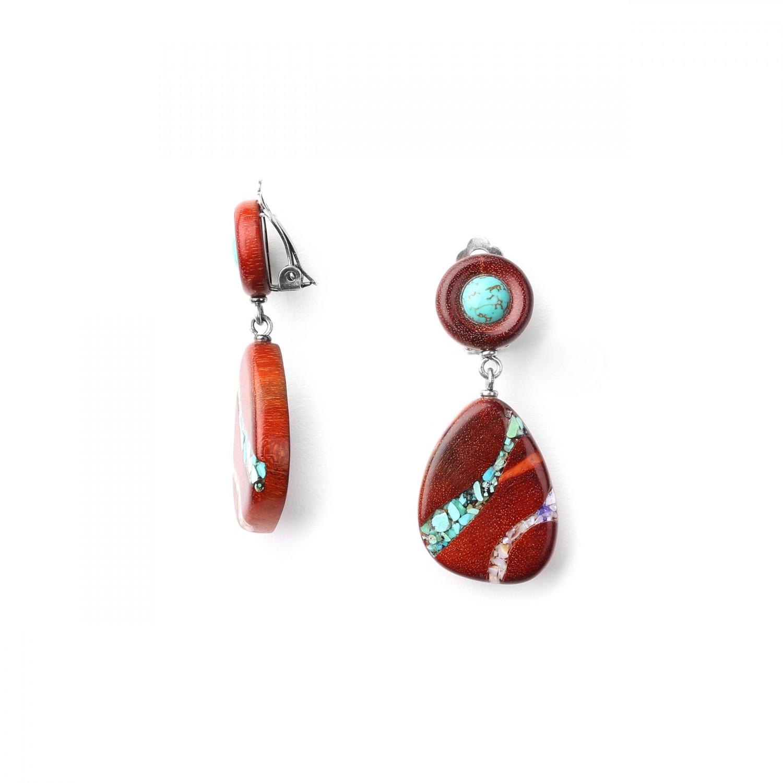 GOLDSWORTHY BO *clips turquoise petits