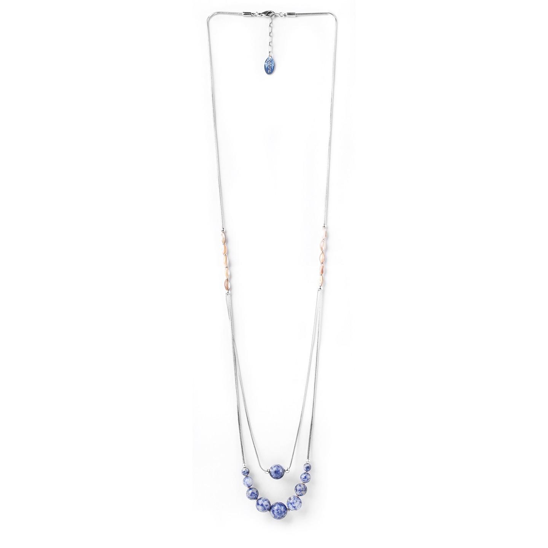 SANTORINI collier long deux chaines