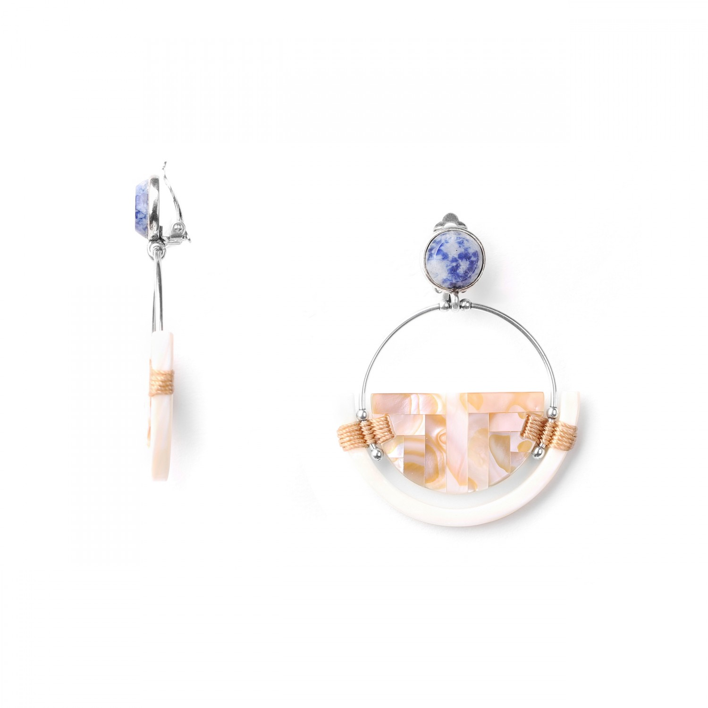 SANTORINI  *BO clips gitane nacre perlière