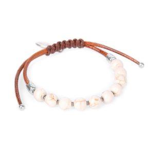 CASABLANCA macramé perles rondes