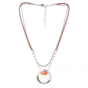 CASABLANCA collier pendentif rond