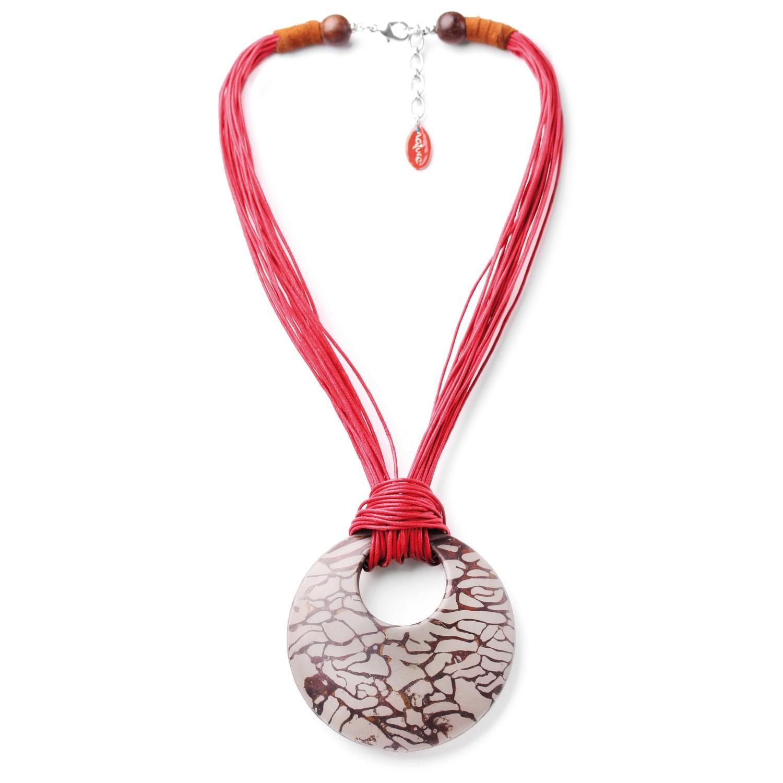 CONCRETE JUNGLE collier pendentif rond