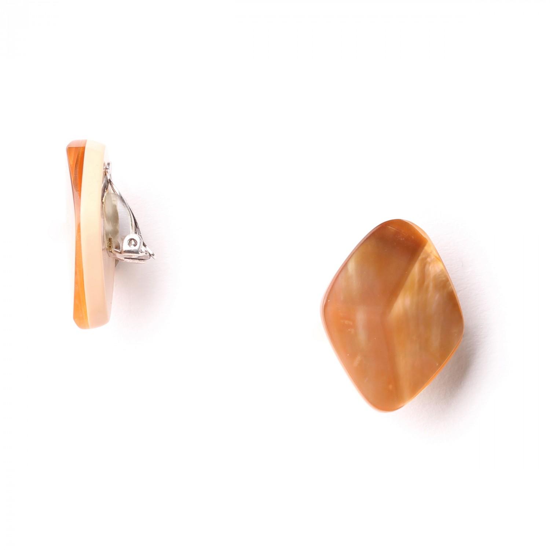 DIAM *clips nacre brune