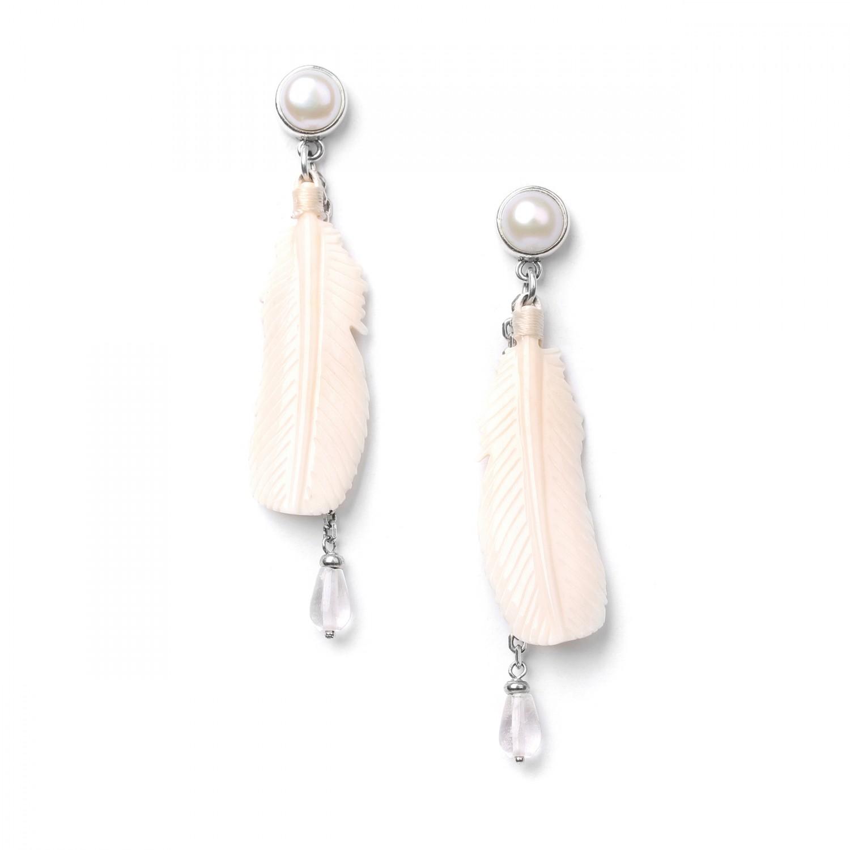 WHITE SWAN BO plume & chaine