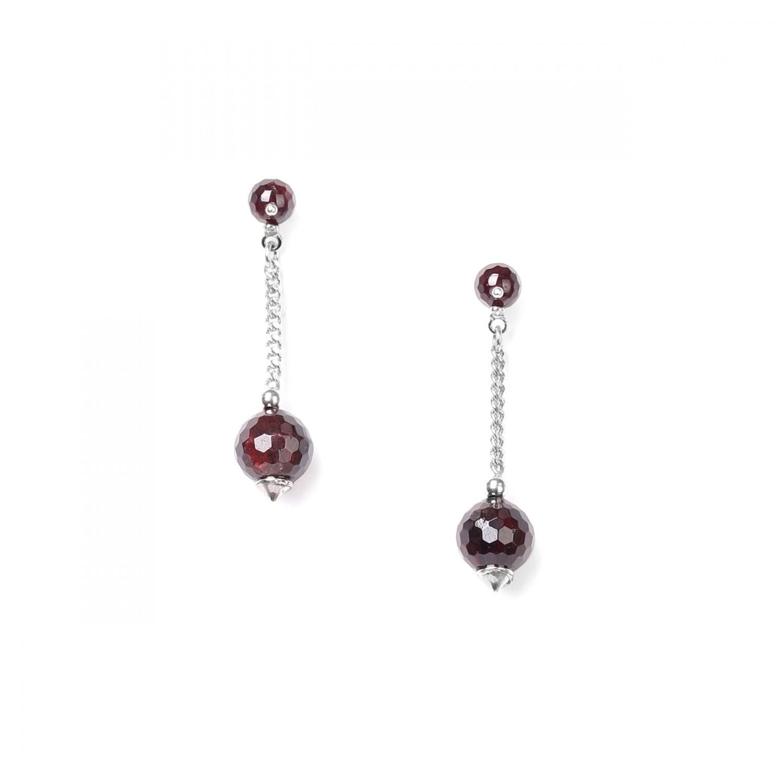 GRENAT BO 2 perles & chaine