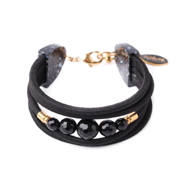 BLACK LIGHT bracelet 5 rangs