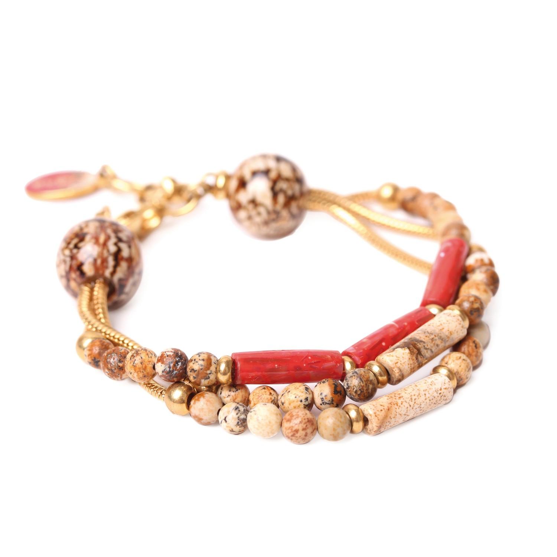 CAPPUCCINO bracelet 3 rangs